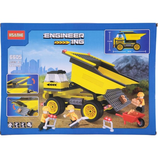 Hsanhe İnşaat Aracı Lego Yapboz Seti