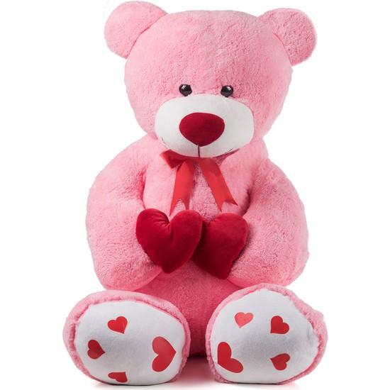 Özgüner 100 cm Pembe Bobo Seni Seviyorum Fil Yastık