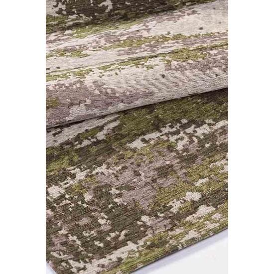 Halı Special Yeşil, Gri Modern Dekoratif Salon Halısı - HS9203A