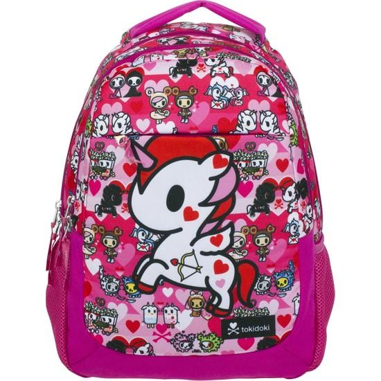 Ümit Çanta Tokidoki Kız Çocuk Fuşya Renk Okul Sırt Çantası 2179