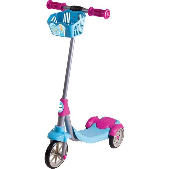 Furkan Toys Karlar Ülkesi Prenses 3 Tekerli Frenli Sepetli Scooter