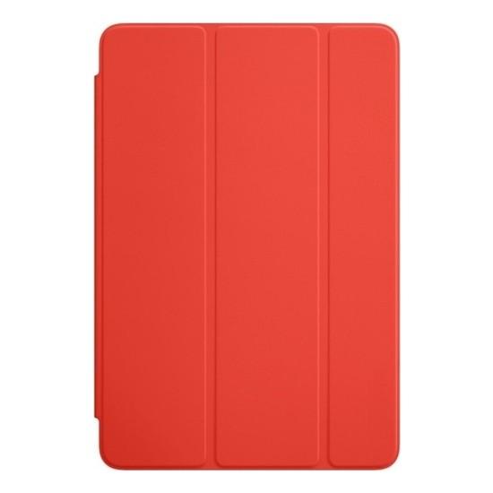CresCent Apple iPad Mini 4 (2015) LeatherSoft Smart Case Deri Tablet Kılıfı (A1538/A1550) 7.9 İnç Kırmızı
