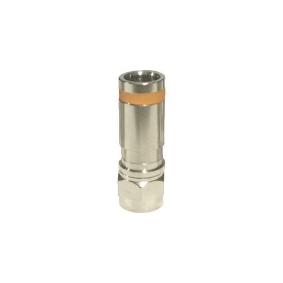 Atlanta RG6 Sıkmalı F Konnektör (50 Adet/Turuncu)