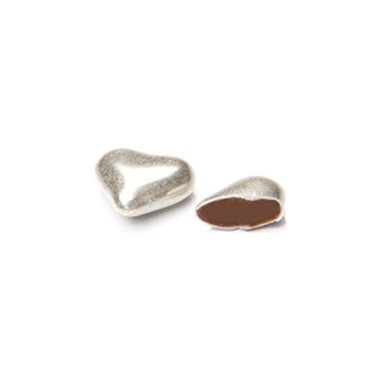 Melodi Gümüş Renkli Kalp Draje 500 gr