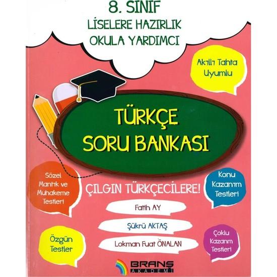 Branş Akademi 8. Sınıf Türkçe Soru Bankası 2019