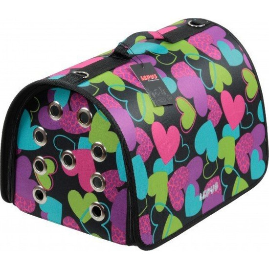 Lepus Fly Bag Kedi ve Köpek Seyahat Çantası Kalp Desenli