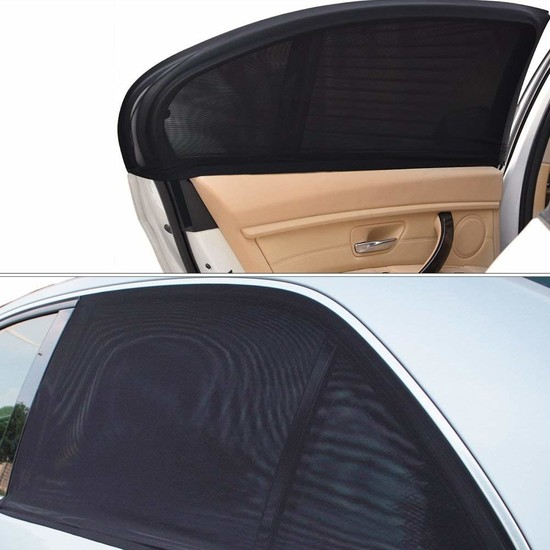 Ankaflex Araç Oto Yan Cam Güneşlik 2Li Araba Perdesi Oto Koku Hediyeli
