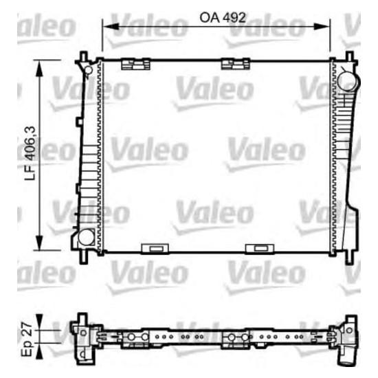 Kale Su Radyatörü Renault Clio III 1.2 1.4 1.6 16V 1.5 Dcı 05= Modus 1.4 1.6 16V 1.5Dcı 04= Klr 350990