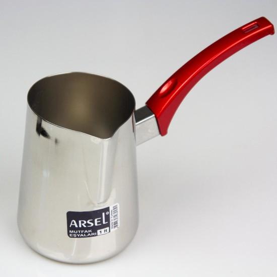 Arsel Çelik Cezve & Sütlük 1L