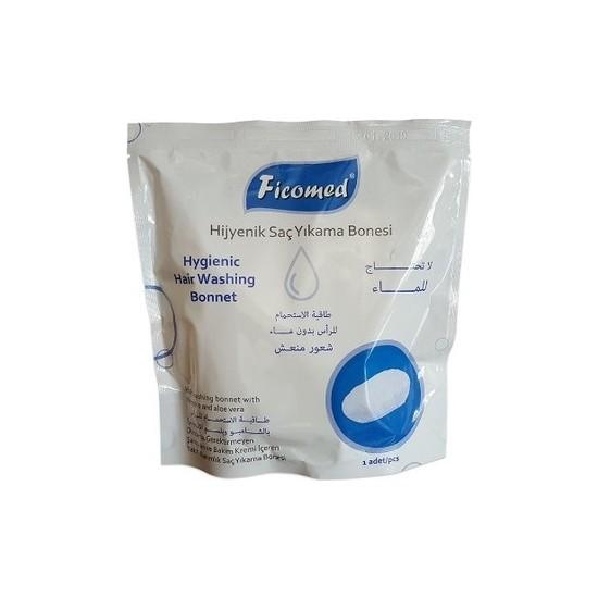 Ficomed Saç Yıkama Bonesi - Şampuanlı Bone - Tekli Paket - 5 Adet