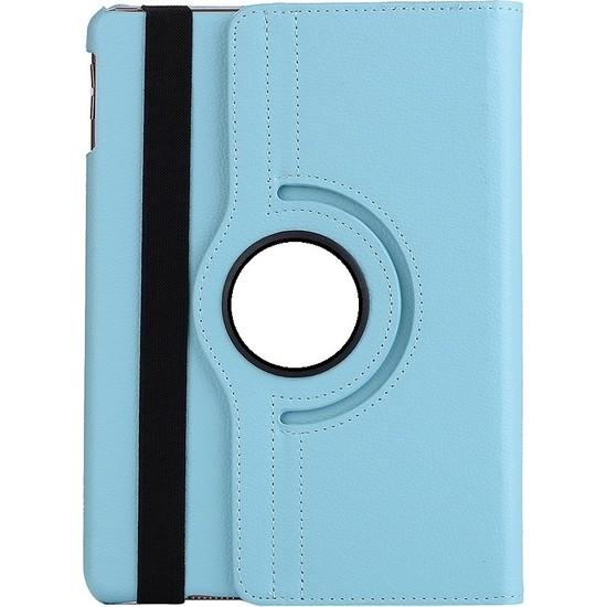 EssLeena Samsung Powers Kılıf Seti Galaxy Tab A6 Sm-T280/T285/T287 7 İnç 360 Derece Dönebilen Kılıf+330 Derece Bükülebilen Nano Ekran Koruyucu+Kalem+Şarj Seti Turkuaz