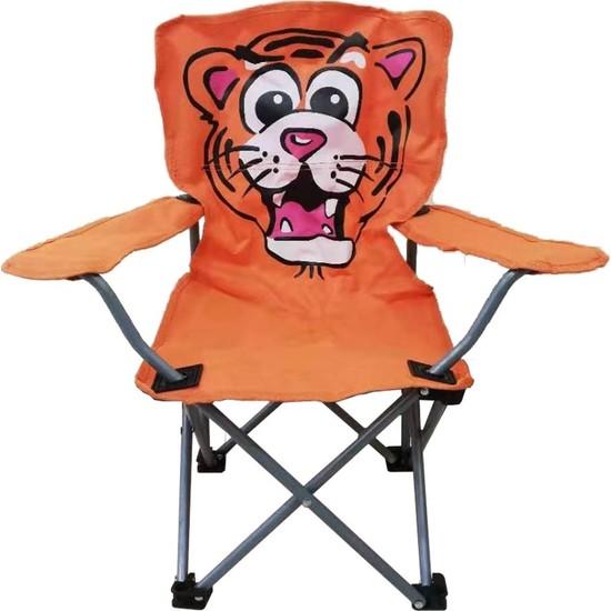 Joystar Kaplan Figürlü Katlanır Çocuk Kamp Sandalyesi