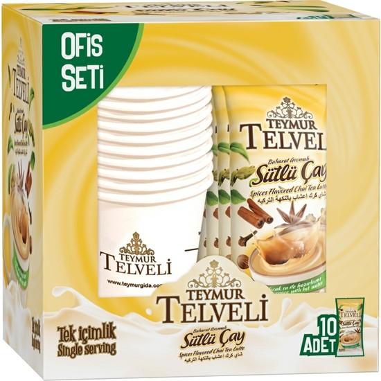 Telveli Baharat Aromalı Sütlü Çay 10'lu Ofis Seti Adedi 22 gr