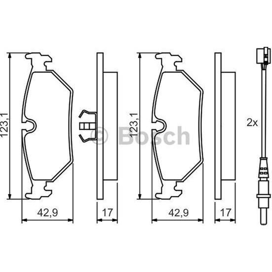 Bosch Fren Balatası Arka 123Mm 806 94 02