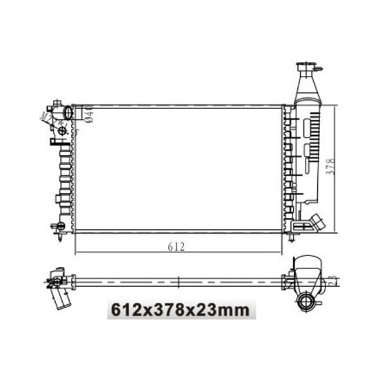 Mga Su Radyatörü Haznelı Mekanik Peugeot Partner Citroen Berlingo 1.4 612X378X23 Mga 80150