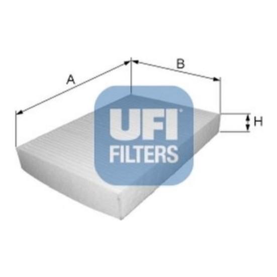 Ufi Filtre Polen Honda Accord 0308Civic 0711Crv 0711 Ufı 53.123.00