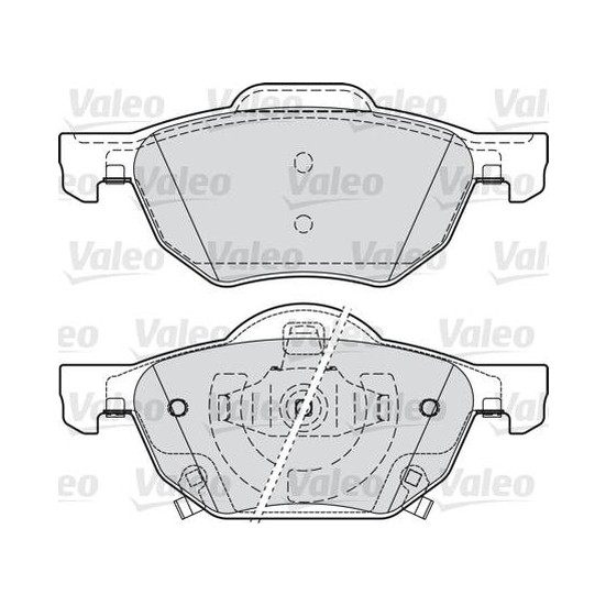 Valeo Disk Fren Balatası Ön Honda Accord VIII 2.0İ 2.2 Cdt 2.4
