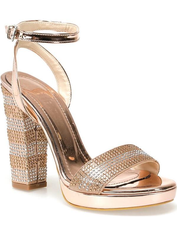 Butigo Moss88Z Rugan Bakır Rengi Kadın Sandalet