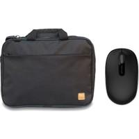 "Evocase EVO300 15.6"" Notebook Çantası + Microsoft 1850 Kablosuz Siyah Mouse (U7Z-00003)"