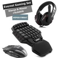 Everest GAMİNG-Oyuncu Set Klavye Mouse Kulaklık