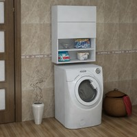 Sanal Mobilya Terni Çamaşır Makinesi Dolabı Üst Modül Çok Amaçlı Dolap