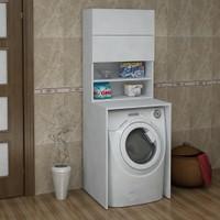 Sanal Mobilya Terni Çamaşır Makinesi Banyo Dolabı Takımı