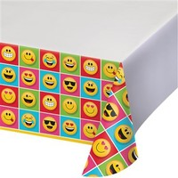 Alins Emojiler Partisi Büyük Masa Örtüsü 137Cm X 259Cm Uzunluğunda