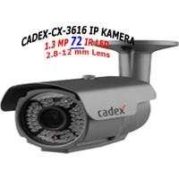 Cadex Cx Ip 3672 960P 1.3Mp 42 Ir Led Verifocal Lens Gece Görüş Ip Güvenlik Kamerası