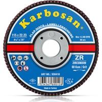 Karbosan Zr Flap Diskler Kum:80 115X22.23 Mm (10'Lu Kutu)