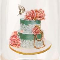 Madame Coco Cam Kavanoz 11 x 21 Cm - Green Wedding Cake
