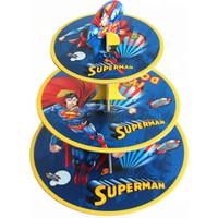 Elitparti Superman Karton Cupcake Standı (30 X 35 Cm)