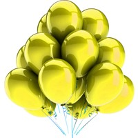 Elitparti Metalik Sarı Balon (5 Adet)