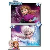 Ks Games 2 İn 1 35-60 Parça Disney Frozen Puzzle 7014