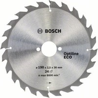 Bosch Optiline Eco 190 x 30 Mm 24 Diş 2608641789