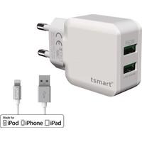Tsmart Apple Lisans Şarj Kablolu Tsmart Seyahat Şarj Cihazı