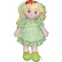 CC Oyuncak Büzgülü Yeşil Renkli Elbiseli Bez Bebek