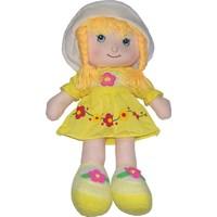 CC Oyuncak Çiçekli Sarı Renkli Elbiseli Bez Bebek