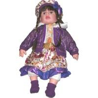 Güzgülü Gerçek Yüzlü 55 cm Elbiseli Bebek - 2998