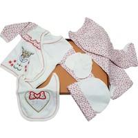 Karyel 5 Parça Organik Bebek Hastane Çıkışı Yeni Doğan Zıbın Seti Nk5-8901-K