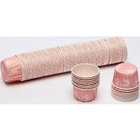 Sweetsorcery Kurdele Desenli Pembe Cupcake Pet Kapsül 100 Adet