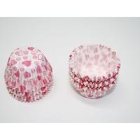Sweetsorcery Pembe Kalpli Minik Cupcake Kapsül 50 Adet