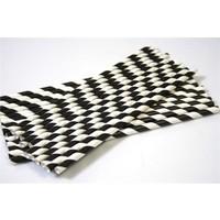 Sweetsorcery Siyah Beyaz Spiral Pipet 20 Cm - Ø6Mm. 25 Adet