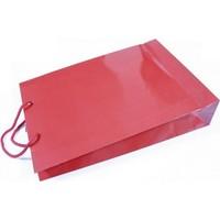 Sweetsorcery Kırmızı Renk Karton Poşet 27X37 Cm/Adet