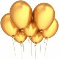 Sweetsorcery Altın Metalik Balon 8'Li