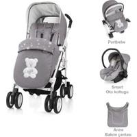 Brevi Millestrade Mod System 3'lü Bebek Arabası Grey