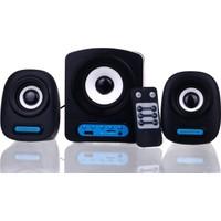 Powerstar 2+1 Kumandalı Bass Radyolu Kumandalı USB SD Ses Sistemi