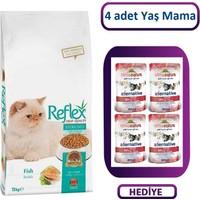Reflex Sterilised Kısırlaştırılmış Balıklı Yetişkin Kedi Maması 15 Kg + 4 Adet Almo Yaş Mama Hediye
