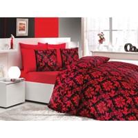Hobby Poplin Çift Kişilik Uyku Seti Avangarde Kırmızı