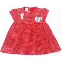 Deco Puanlı Kız Bebek Elbisesi Kırmızı