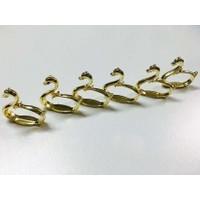 Dreamhome Altı Parça Kuğulu Peçete Halkası Altın